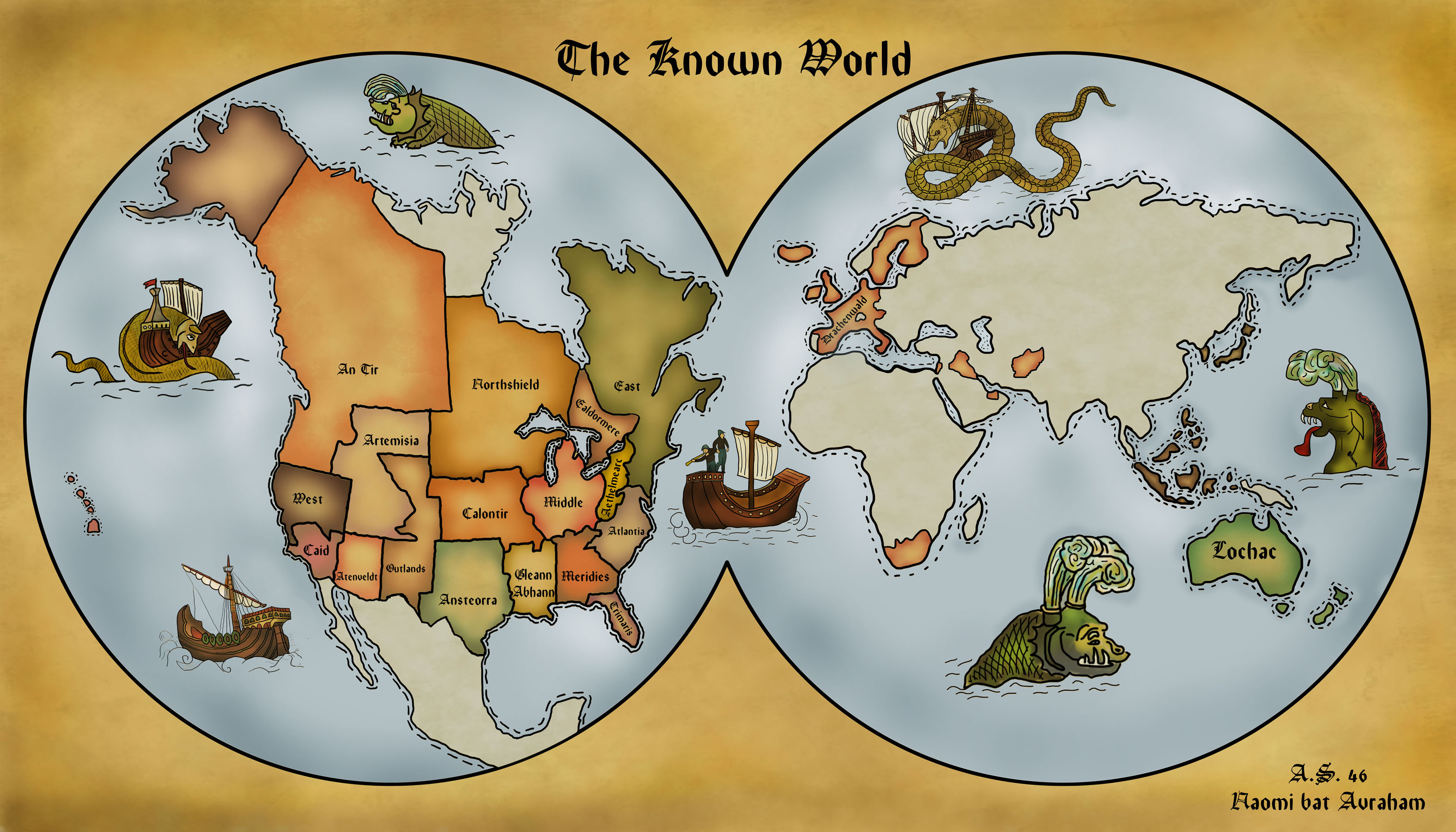The Twenty Kingdoms Of The Sca