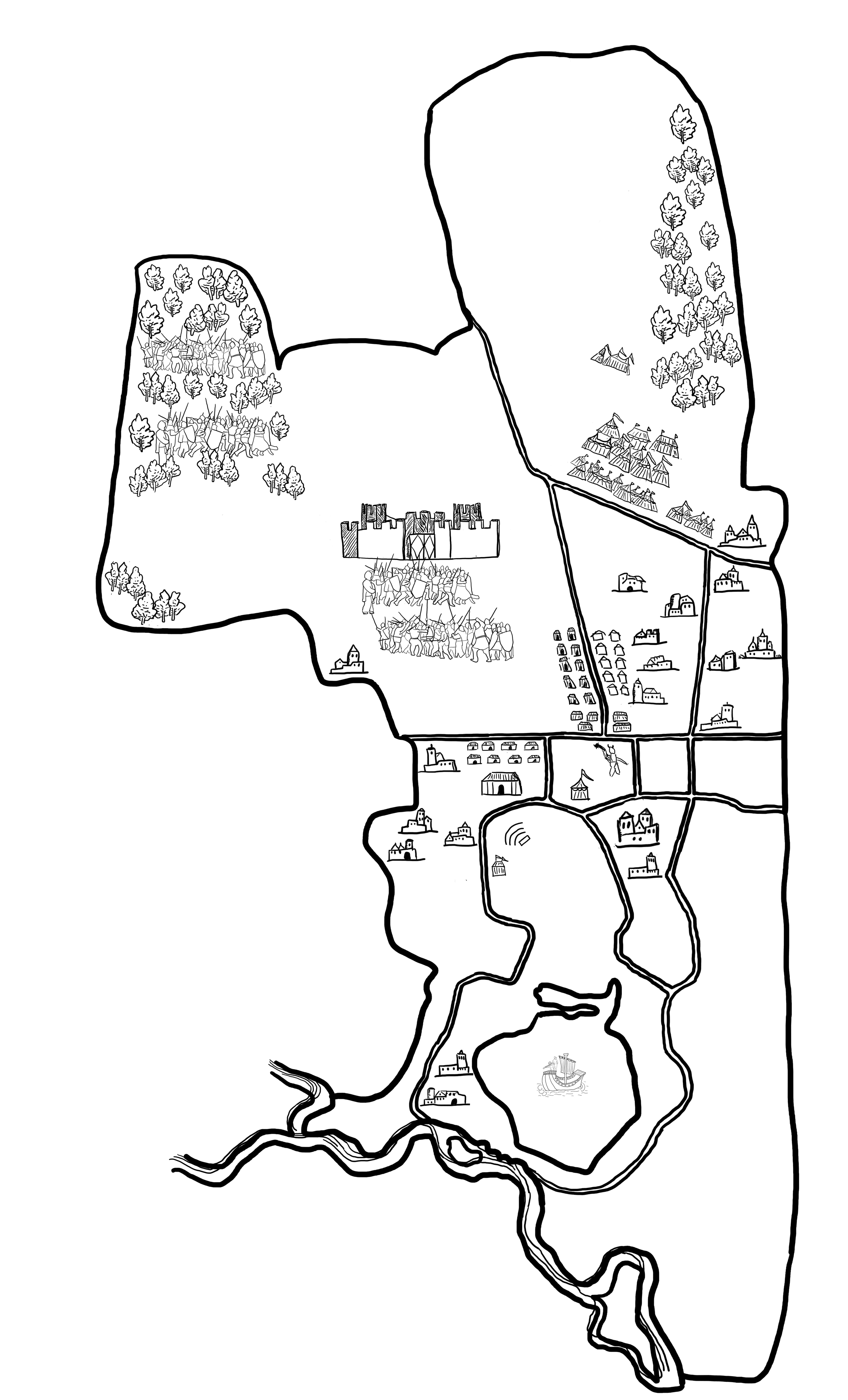 pennsic map with royal camps blastedoak